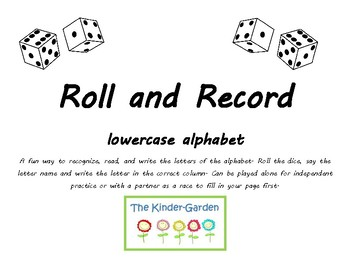 Roll and Record ~ lowercase alphabet