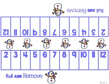 Roll and Remove - An addition game for sums to 12