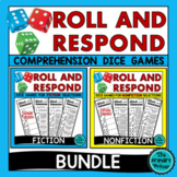 Roll and Respond Comprehension Dice Games - FICTION and No