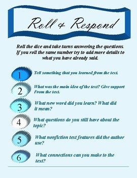 Roll and Respond - Nonfiction