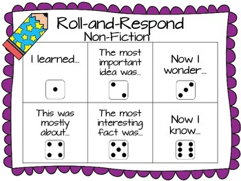 Roll-and-Respond Reading Response Activity