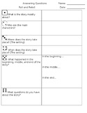 Roll and Retell Answer Sheet