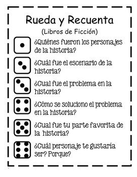 Roll and Retell Spanish