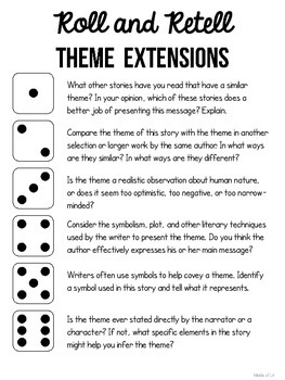 Roll and Retell Theme