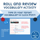 Roll and Review - Vocabulary Game