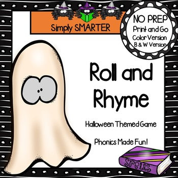 Roll and Rhyme:  NO PREP Halloween Game