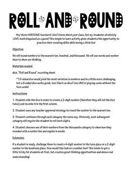 Roll and Round: Rounding Game