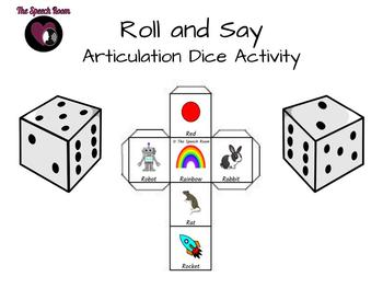 Roll and Say - Articulation Dice Activity