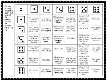 No Prep Roll and Say Articulation Dice Bundle (Later Developing Sounds)