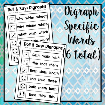 Roll and Say: Digraphs
