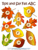 Roll and Say Fall ABC Activity