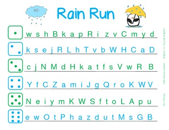 Roll and Say-Fluency with Letters and Sounds-April, May, June