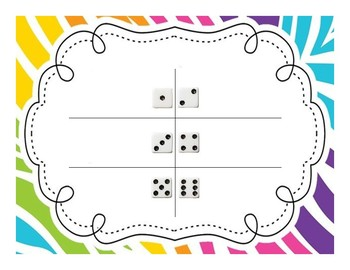 Roll and Say Letters, Numbers, and Shapes Trolls Inspired