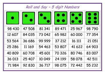 Roll and Say Numbers