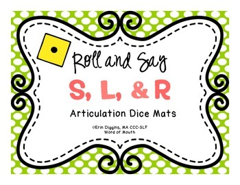 Roll and Say S, L, and R - Articulation Mats