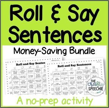 Roll and Say Sentences (Money Saving Bundle): a no-prep articulation activity
