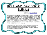 Roll and Say for R Blends