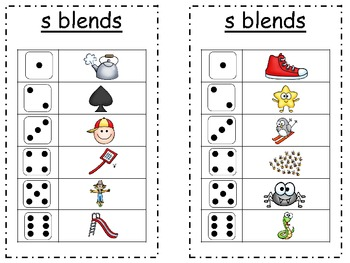 Roll and Say for S Blends