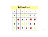 Roll and Say s and a
