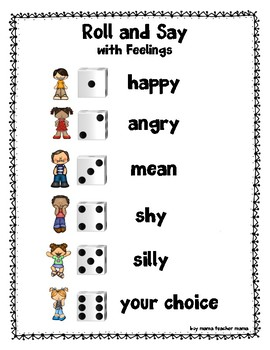 Roll and Say with Feelings: A Tone of Voice Game