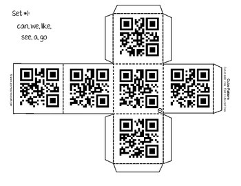 Roll and Scan QR Codes Sight Words Set A