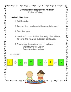 Roll and Solve: A Commutative Property Game!
