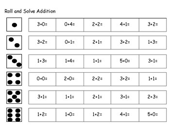 Roll and Solve Addition
