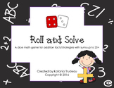 Roll and Solve Addition Dice Game to 20+
