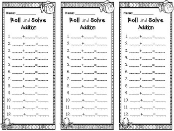 Roll and Solve-Addition and Subtraction Mats (Super Freebie!)