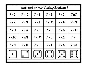 Roll and Solve: Multiplication!
