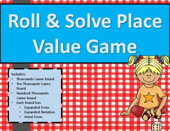 Roll and Solve Place Value Race 3.2A