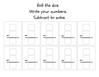 Roll and Solve Sheets