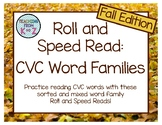 Roll and Speed Read: CVC Word Families (Fall Edition)