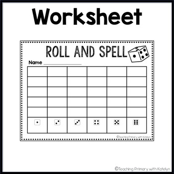 Spelling Activity: Roll and Spell