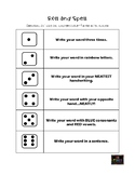 Roll and Spell Activity
