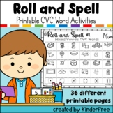Roll and Spell CVC Word Games Short Vowel Words