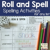 Roll and Spell: Dice Spelling Activities for Any List (EDITABLE)