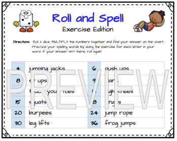 Roll and Spell + Fact Fluency