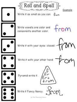 Word Work - Roll and Spell Freebie