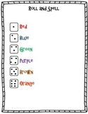 Roll and Spell Game