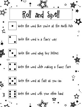 Roll and Spell Game/Activity