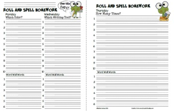 Roll and Spell Homework