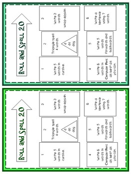 Roll and Spell Spelling Activity