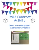 Roll and Subtract Math Center Activity