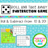 Roll and Subtract from 10 & 20 Subtraction Game!