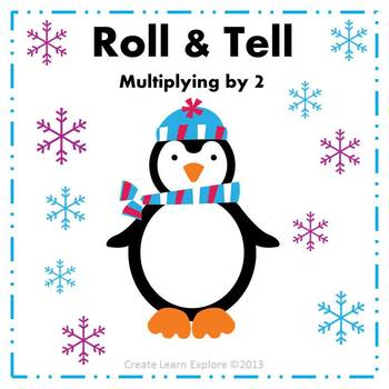 Roll and Tell Multiplying by 2 Game