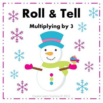 Roll and Tell Multiplying by 3 Game