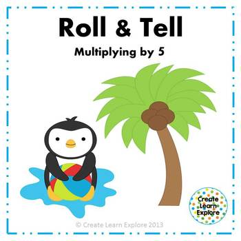 Roll and Tell Multiplying by 5 Game
