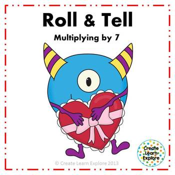 Roll and Tell Multiplying by 7 Game