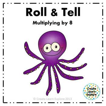Roll and Tell Multiplying by 8 Game
